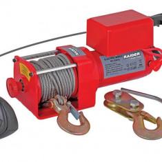 Palan - 121605-Troliu Electric 12 V 1360 kg 2200 W telecomanda pe fir Raider Power Tools