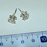 Cercei argint nemarcat - 7cm diam - STEA - 2+1 gratis produse pret fix KAY118
