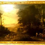Tablou - Ulei pe panza - PEISAJ ITALIAN - semnat - AN 1667, Peisaje