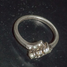 Inel vechi din argint cu pietre smarald (13) - Inel argint