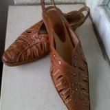 Sandale dama, Piele naturala - SANDALETE SUPERBE PIELE NATURALA MARIME 36, INTERIOR 24 CM ITALIA