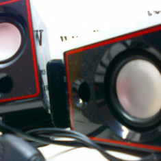 Boxe PC, Canale : 2.1, 0-40W - Boxe calculator cu volum control pe fir