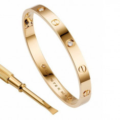 Bratara placate cu aur, Unisex - Bratara Cartier colectia Lowe, barbati, unisex cu sau fara cristale Svarowscki
