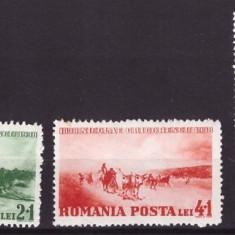 Timbre Romania - 1938 - Centenarul nasterii pictorului N. Grigorescu, serie nesta