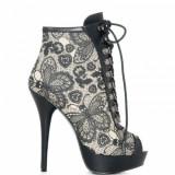 Best price 3039 - Pantofi Iron Fist Love Lace Botine - 100% Original - Pantof dama, Marime: 37, 41, Culoare: Din imagine