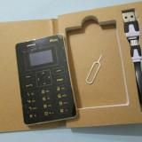 Telefon mobil, Negru, Nu se aplica, Neblocat, Single SIM, Fara procesor - Telefon MOOC X5 Telefon mini MOOC X5 telefon 0.96 inch Ultra Thin mooc x5 phone