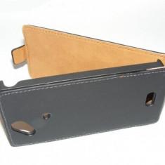 Husa toc Piele Flip / clapeta ecologica Nokia Lumia 520 525 - Husa Telefon Nokia, Alb, Husa
