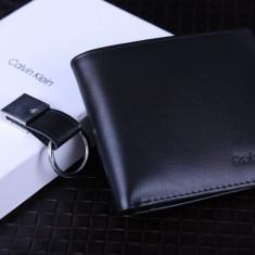 Portofel Calvin Klein M1 ORIGINAL piele FULL-GRAIN barbat import CK USA +CADOU! - Portofel Barbati Calvin Klein, Negru, Clasic