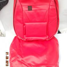 Huse scaune auto imitatie piele rosie complet - Husa Auto