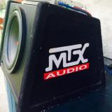 Vand subwoofer MTX RT12AV 750W cu amplificator auto MTX RT-602