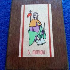 Icoana veche din Anglia - St. MATTHEW / Icoana Anglia - Icoana pe lemn