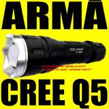 Lanterna Led CREE Q5 Pusca Airsoft