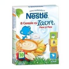 Cereale 8 Cereale cu Iaurt Mere Pere Nestle 250gr Cod: 7613034341983