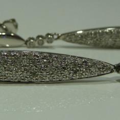 Cercei aur 14k cu diamante