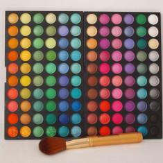POZE REALE !! TRUSA 120 culori farduri ploape PROFESIONALE + 1 PENSULA MARE, trusa fard machiaj makeup make-up TR43-1 - Fard pleoape