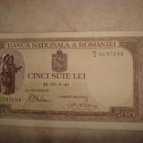 BANCNOTA 500 LEI 01.11.1940 FILIGRAN VERTICAL BNR