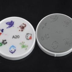 Unghii cu modele - Matrita din silicon pt modele unghii, fara stampila, disc, model A20