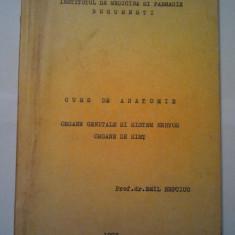 CURS DE ANATOMIE - ORGANE GENITALE SI SISTEM NERVOS ORGANE DE SIMT - EMIL REPCIUC ( 1110 ) - Curs Medicina