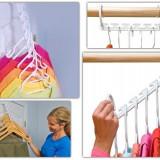 Umeras wonder hanger, ideal pt depozitarea usoara organizator pt dulap, Marime: Masura unica, Culoare: Alb