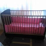 VAND PATUT LEMN SERTAR PENTRU COPII - Patut lemn pentru bebelusi, 120x60cm