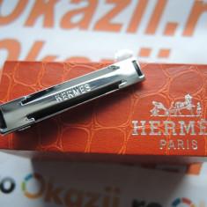AC de cravata Hermes cod 736 - Cravata Barbati Hermes, Culoare: Argintiu