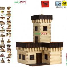 Jocuri Seturi constructie - Casuta din lemn - Castelul de vara jucarie eco walachia summer castle lego wood