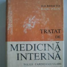 TRATAT DE MEDICINA INTERNA - BOLILE CARDIOVASCULARE III - RADU PAUN ( A 159 ) - Carte Cardiologie