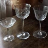 Pahare cristal Bohemia - set 66 pahare, 6 modele diferite