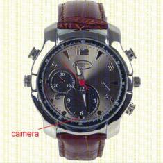Gadget supraveghere - Ceas SPY cu Camera Acunsa Spion HD Night Vision Curea Piele