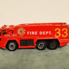 Jucarie de colectie - Masinuta de matal, fier / macheta auto pompieri Fire Dept, 33, China, 7.5cm