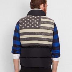 Vesta Ralph Lauren Quilted Flag Vest masura S M - Vesta barbati Ralph Lauren, Culoare: Negru