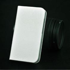 Husa telefon, Allview A5 Duo, Alb, Husa, Cu clapeta - HUSA FLIP ALLVIEW A5 DUO bonus FOLIE PROTECTIE