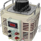 Autotransformator monofazic, 220V - 0...220V - 2000VA/8A, 2KW, cu voltm. digital