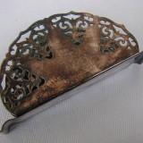 Suport argintat pentru servetele, perioada anilor 1950