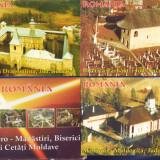 ROMANIA VEDERI MANASTIRI, BISERICI SI CETAI MOLDAVE FOTO AERO 30 BUCATI, Ambele, Altul, Romania de la 1950