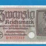 bancnota europa - Germania 20 marci mark 1939 1945 3
