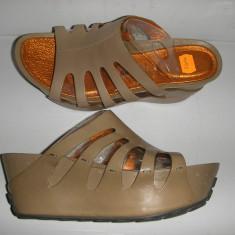 OFERTA! Saboti talpa ortopedica TSUBO ORIGINALI noi calapod anatomic piele 37, 5 - Sandale dama, Culoare: Bej, Piele naturala