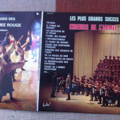 Les Plus Grands Succes Des Choeurs De L Armee Rouge armata rosie corala vinyl lp - Muzica Clasica, VINIL