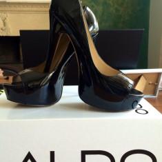 Pantofi Aldo - Pantof dama, Marime: 37, Culoare: Negru, Piele naturala