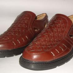Pantofi de vara din piele pt. barbati noi Pablo Moda by Ardik mar.41, 26cm - Pantofi barbati Rieker, Culoare: Maro, Piele naturala