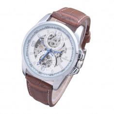 Ceas barbatesc, Casual, Mecanic-Automatic, Piele - imitatie, Analog, Nou - REDUCERE - Ceas automatic Ceas automatic Goer - Torino