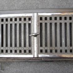 Metal/Fonta - Usa de cuptor din fonta cromata, de la soba veche