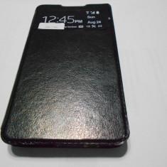 HUSA HTC DESIRE 516 - Husa Telefon Akella, Negru, Piele, Cu clapeta
