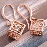 Cercei Channel filati cu aur rosu cu cristale #155