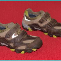 NOI _ Pantofi din piele, DE CALITATE, model vintage, SUPERFIT _ baieti | nr. 36 - Pantofi copii, Culoare: Maro, Piele naturala