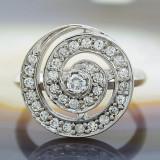 Inel argint - Inel din Argint 925, cu Zirconiu, model Shiva, cod 622
