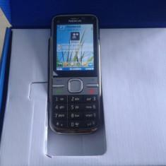 Nokia C5-00 La Cutie, Culoare Gri/Argintie, Bluetooth, Gps, Poze reale. - Telefon mobil Nokia C5, Neblocat