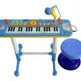 Instrumente muzicale copii - ORGA ELECTRONICA MULTIFUNCTIONALA CU SCAUNEL INCLUS SI SUPORT PARTITURA.PROMOTIE
