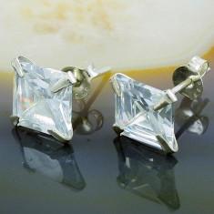 Cercei din Argint 925, cu Zirconiu, cod 699 - Cercei argint