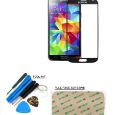 Display LCD - Sticla display fata pentru Samsung Galaxy S4 negru + folie protectie cadou